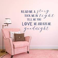 Read Me A Story Bedtime Quote Wall Decal For Kids Bedroom Vinyl Decor Customvinyldecor Com