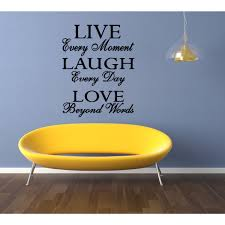 Shop Live Every Moment Quote Wall Art Sticker Decal Overstock 11521012