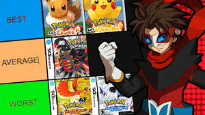 BEST POKEMON GAME TIER LIST - YouTube