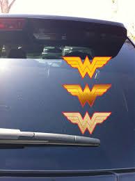 31 26 Wonder Woman Logo Insignia Car Window Decal Sticker Yeti Cup Wonder Woman Logo Car Window Decals Logos
