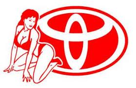 Toyota Girl V4 Decal Sticker