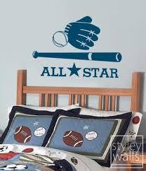 All Star Baseball Sports Vinyl Wall Decal Styleywalls On Artfire