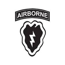 Amazon Com Military 25th Infantry Division Airborne Patch Vinyl Car Decal Black 5 By 5 Inches Automotive