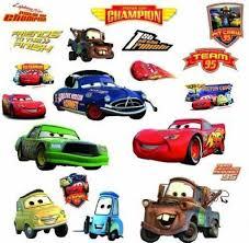 Cars Wall Decals Decor Stickers Kids Toddler Room Nursery Boy Disney Pixar New For Sale Online