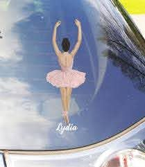 Ballerina Car Decal Personalized Etsy