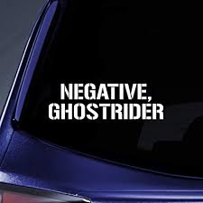 Amazon Com Bargain Max Decals Negative Ghostrider Sticker Decal Notebook Car Laptop 5 5 White Automotive
