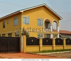 Modern Residential House Africa Fence Gate Buildings Landmarks Stock Image 708171040