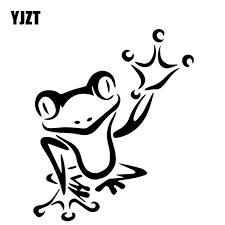Yjzt 12 8cm 15 3cm Frog Creative Pattern Decoration Car Stickers Car Door Vinyl Decal Black Silver C4 2086 Car Stickers Aliexpress