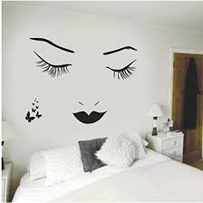 Amazon Com Aigemi Eyelashes Wall Stickers Diy Wall Quote Sticker Decal Home Decor Vinyl Art Mural Sports Outdoors
