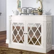 cheetham mirrored 2 door accent cabinet