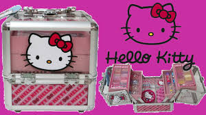 o kitty train case makeup box for