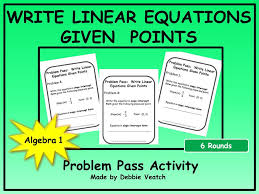 write linear equations given points
