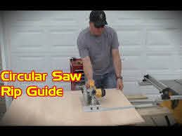 Circular Saw Rip Fence Accessory Accu Rip Saw Guide Youtube