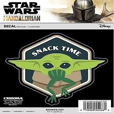 Chroma Graphics Star Wars Mandalorian The Child Baby Yoda Snack Time Vinyl Decal 25066 Advance Auto Parts
