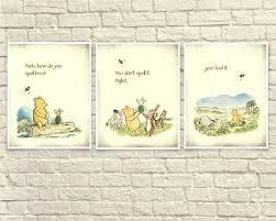 Classic Winnie The Pooh Wall Art Winnie The Pooh Prints Pooh Etsy