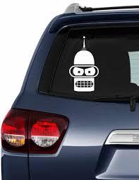 Bender Futurama Decal Bender Futurama Vinyl Decal Car Decal Laptop Decal Phone Decal Tumbler Decal Laptop Decal Mailbox Decals Phone Decals