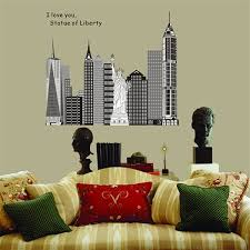 Large New York City Building Statue Of Liberty Wall Decal Sticker Home Decor Wallpaper Posters Wish