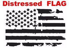 Us Flag Vinyl Decals Jeep Wrangler Distressed American Flag Black 3c Signs