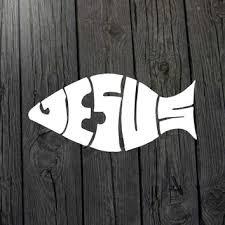 Jesus Fish Decal Religious Decal Jesus From Marylandcorvus On