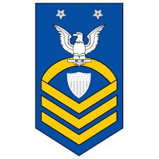 Coast Guard Rank E 9 Command Master Chief Petty Officer Sticker