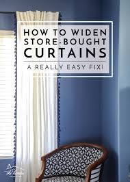 Try This Easy Fix To Widen Store Bought Curtains The Homes I Have Made