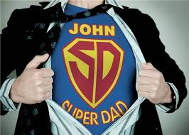 a3 super dad personalised poster in a