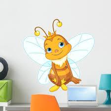 Cute Queen Bee Wall Decal Wallmonkeys Peel And Stick Decals For Girls 24 In H X 23 In W Wm502693 Walmart Com Walmart Com