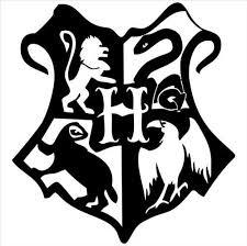 Wizard School Crest Inspired Vinyl Decal Harry Potter Stencils Harry Potter Decal Harry Potter Silhouette