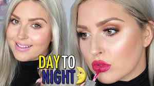 day to night makeup tutorial in 5