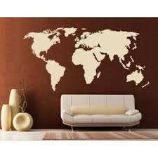 Style And Apply World Map Wall Decal Sticker Mural Vinyl Home Decor