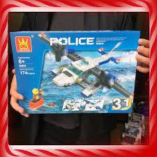 Mua [Giảm Giá] ĐỒ CHƠI TRẺ EM - Xếp hình Lego Máy bay Cảnh sát Chiến Đấu (3  in 1) - Đồ Chơi Lắp Ráp [Loại Tốt] chỉ 161.600₫