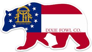 Ga Black Bear Dixie Fowl Co Decal 6 X 4 Dixie Fowl Company