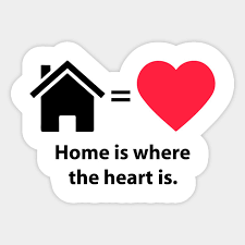 home is where the heart is quote home pegatina mx