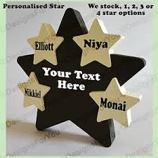 personalised wooden star gift present