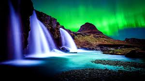 green aurora lights hd wallpapers free