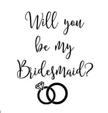 Will You Be My Bridesmaid Maid Of Honor Vinyl Decal Bridesmaid Etsy Will You Be My Bridesmaid Be My Bridesmaid Will U Be My Bridesmaid