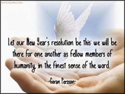 let our new year s resolution be this we will be there for one