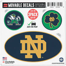 Notre Dame Fighting Irish Repositionable 3 Pack Decal Set