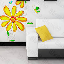 Big Yellow Daisy Wall Decal Lambswalldecor