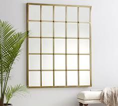 eagan 25 panel gold beveled mirror