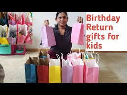 return gifts for birthday party return