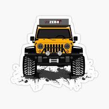 Jeep Clueless Overlanding Yellow Sticker By Sojeepgirl Redbubble