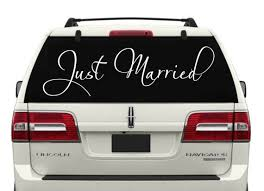 Just Married Car Window Decal 8 Just Married Decals Just Etsy