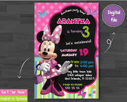 Minnie Mouse Bowtique Invitation Minnie Mouse Bowtique Minnie