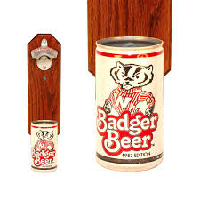 wisconsin badger wall mounted bottle