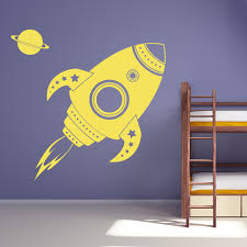 Wall Decals For Kids Space Rocket By Artollo