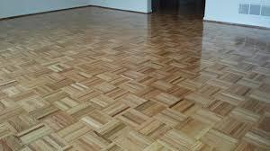 teak parquet floor repaired