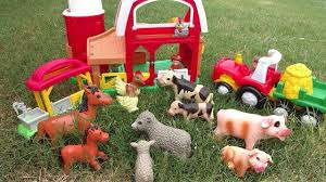 Old Macdonald Farm Farm Animals Attacked By Wild Animals Building A Fence Toy Animals For Children Youtube