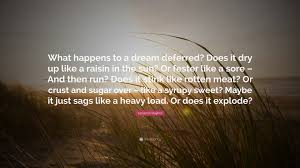 """langston hughes quote """"what happens to a dream deferred does it"""