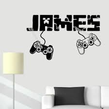 Gamer Wall Sticker Personalized Name Removable Bedroom Game Room Boys Wall Decal Ebay